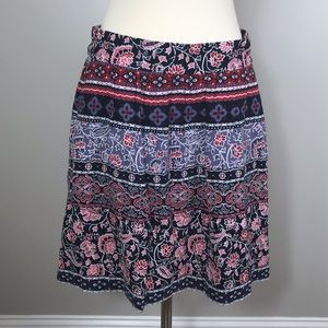 LOFT Floral Skirt Size Small